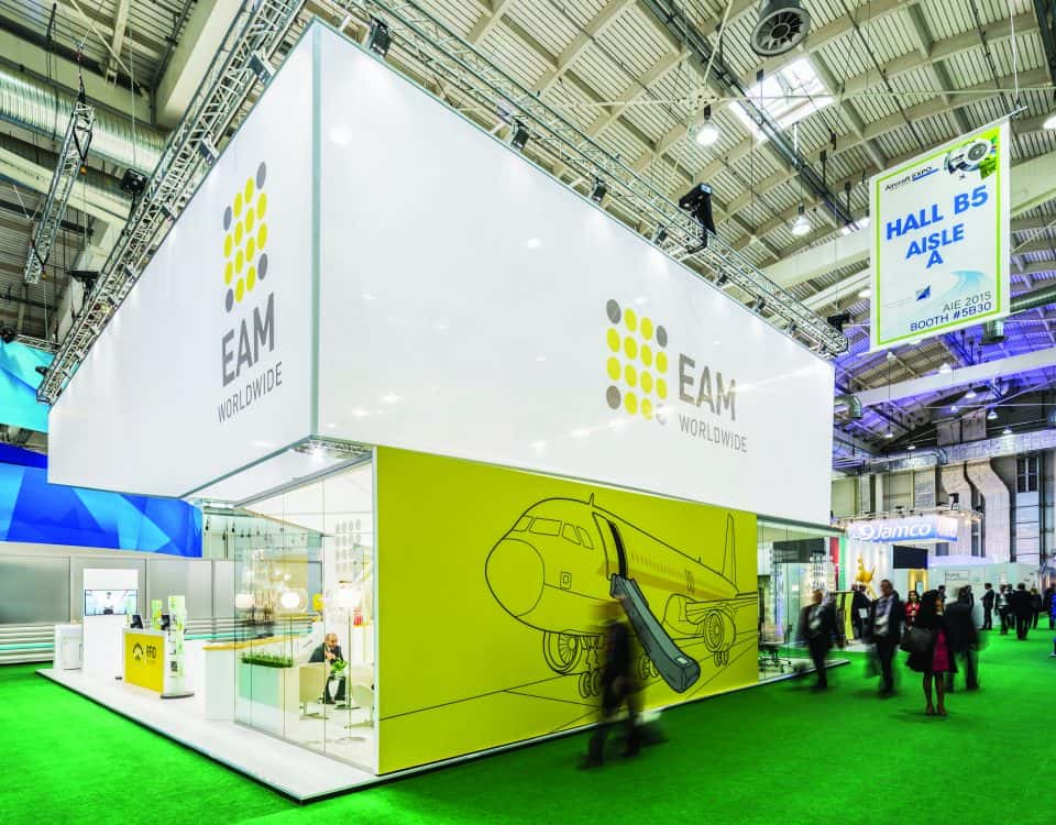 EAM Worldwide trade-show booth