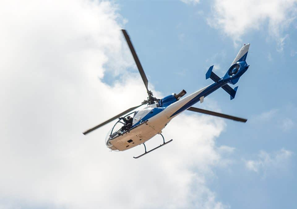 Police helicopter in the sky